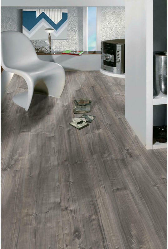 Laminatboden Grau Holz B/l/s: Ca. 19,4x128,6x0,7 Cm