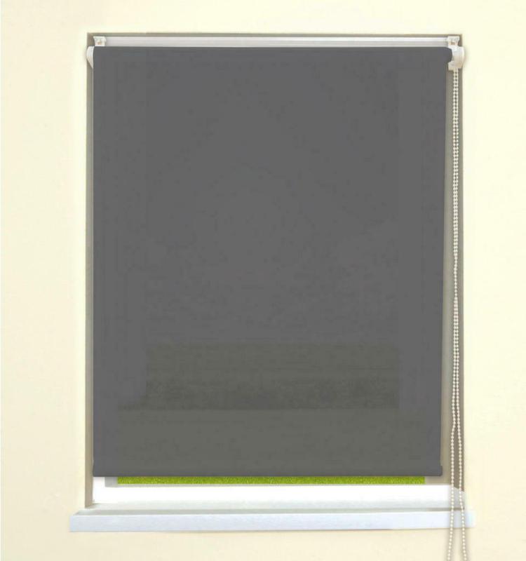 Klebe-/klemmrollo Grau B/l: Ca. 75x150 Cm
