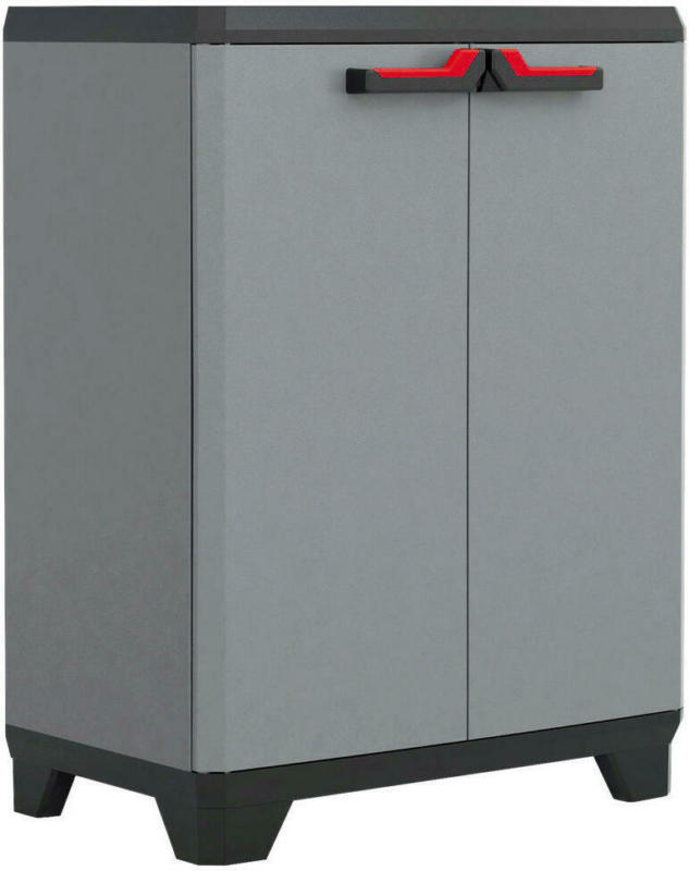 Keter Kunststoffschrank Stilo Niedrig Grau B/h/l: Ca. 68x90x39 Cm
