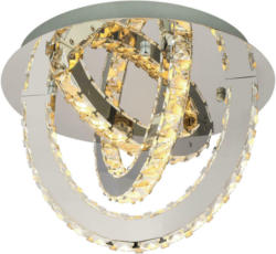Globo Deckenleuchte 67038-18d Chrom Klar Metall Klarglas H/d: Ca. 28,5x40 Cm