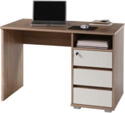 Schreibtisch Primus Eiche Sonoma Nachbildung Weiß B/h/t: Ca. 110x75x65 Cm
