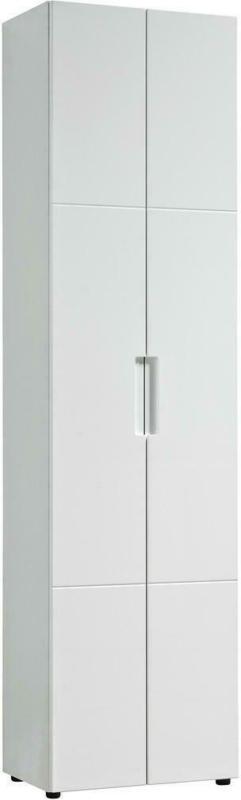 Mehrzweckschrank Mailand 10 Weiß Weiß Hochglanz B/h/t: Ca. 53x202x35 Cm