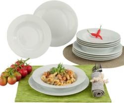 Wellco Tafelservice Weiß Porzellan