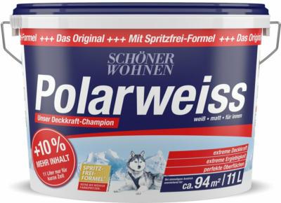 Schöner Wohnen Wandfarbe Polarweiss matt 11 l