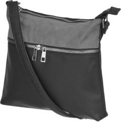 Handtasche mit Doppel-Zipper, ca. 25x25x4cm