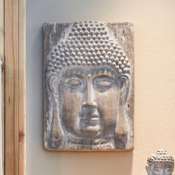 Buddha-Wanddekoration, ca. 46x33x8cm