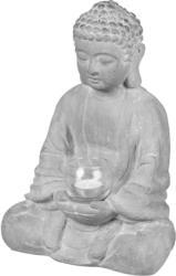 Buddha-Kerzenhalter mit Glas, ca. 25x15x35cm