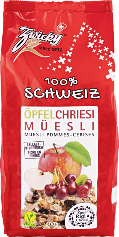 Muesli Mela & Ciliegia Zwicky, 100% Svizzera, 600 g