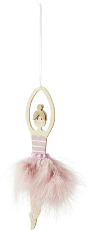 Dekohänger Ballerina in Weiss/Pink