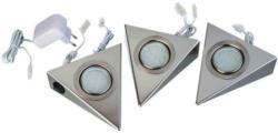 Hölscher Leuchten Led-unterbauspots 017 913 Stahlfarbig Metall 3 Brennstellen