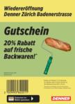 Denner Wiedereröffnung: 20% auf Backwaren! - al 16.10.2021