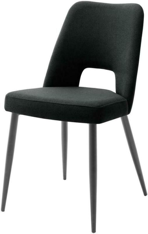 Stuhl Medan B: 45 cm Schwarz