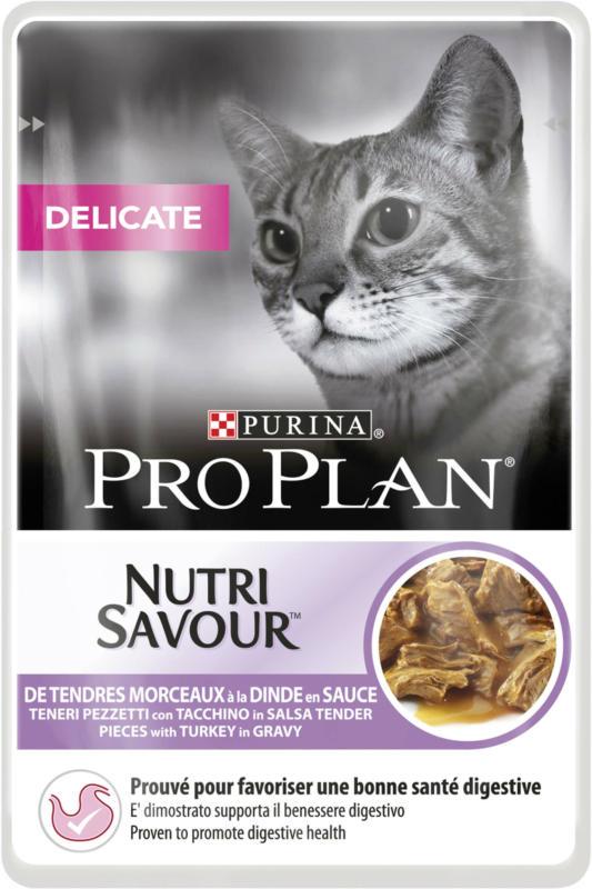 Pro Plan Cat Nutrisavour Delicate Truthahn in Sauce 26x85g