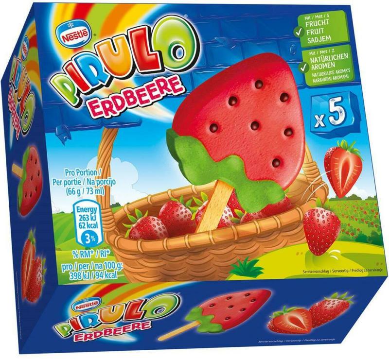 Schöller Pirulo Erdbeereeis