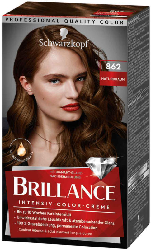Schwarzkopf Brillance Intensiv-Color-Creme Naturbraun 862 -