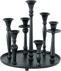 Kerzenhalter Poulina aus Aluminium in Schwarz