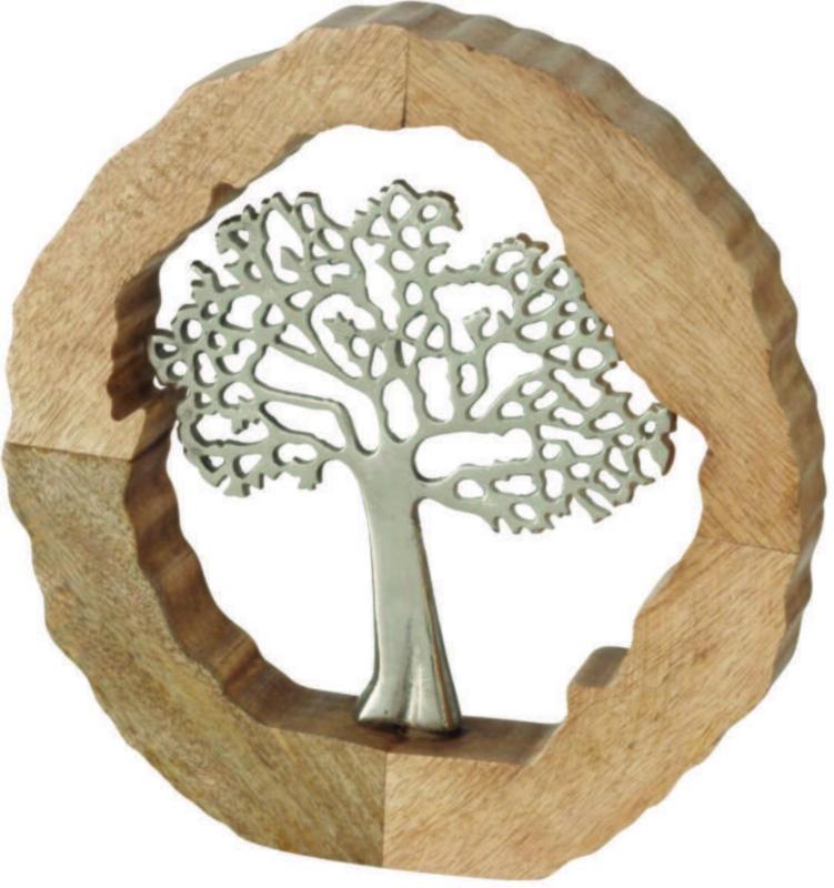 Skulptur Tree in Naturfarben