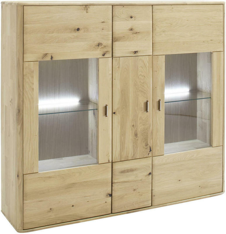 Highboard ohne Beleuchtung, 156/141/38 cm