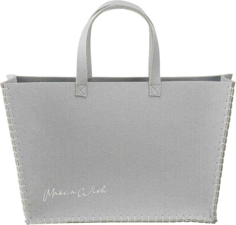 Einkaufstasche Ella aus Filz in Grau