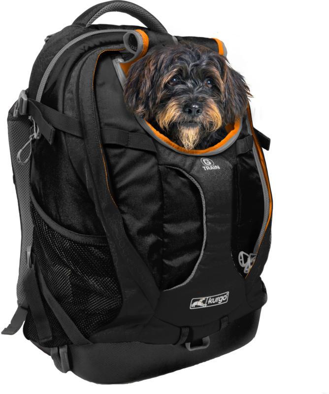 Kurgo Hunderucksack G-Train K9 schwarz für Hunde bis 11.3kg