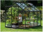"""BayWa Bau- & Gartenmärkte: Kirchheim Gewächshaus """"Venus 5000"""", 5m², 3mm, Einscheibensicherheitsglas, anthrazit schwarz   5 m²   Einscheibensicherheitsglas   3 mm"""