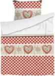 OTTO'S Bettwäsche mit Herzen rot-weiss -  (Preis für kleinste Grösse)