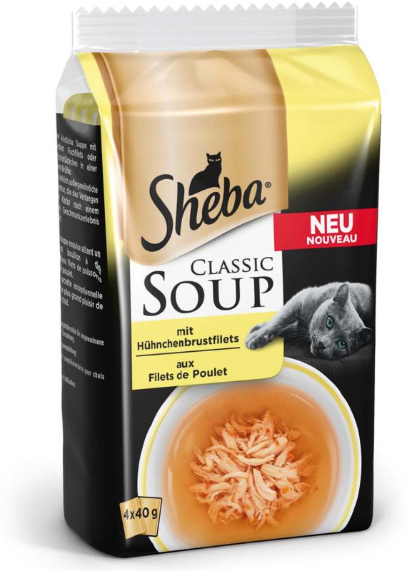 Sheba Classic Soupe avec filet de poitrine de poulet