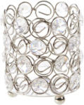 NKD Kristall-Teelichthalter in stilvoller Optik, ca. 8x9cm - bis 19.10.2021