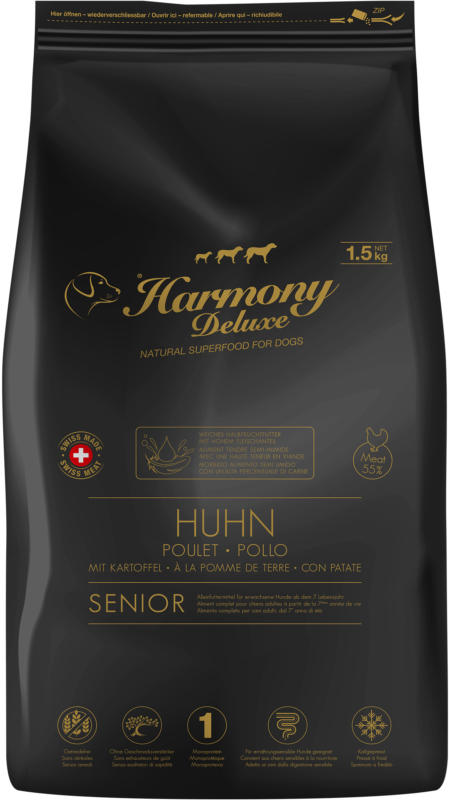 Harmony Dog Deluxe Senior Poulet nourriture semi-humide 1,5kg