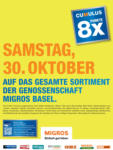 Migros Basel 8x Cumulus - il 30.10.2021