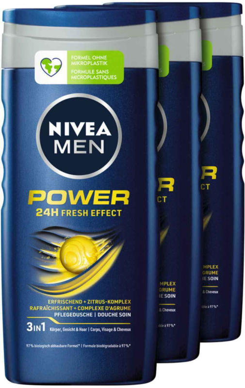 Nivea Men Power Fresh 3 x 250 ml -