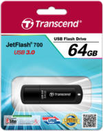 Transcend 64GB JetFlash 700 USB 3.0 Blaue LED-Statusanzeige Plug & Play NEU OVP
