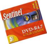 5 x Sentinel DVD-R 4.7 GB / 120 min in Box