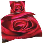Microfaser-Bettwäsche Rose 135x200