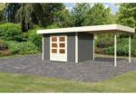 Karibu Gartenhaus Multi Cube mit Schleppdach (3m), terragrau