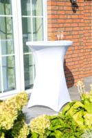 GO-DE Stehtisch-Spannhusse, 120x70-80 cm, weiß