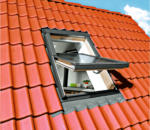 Durabil Holz Dachfenster 78x118 cm natur