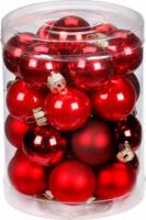 Weihnachtskugeln Ruby Red-Mix, aus Glas
