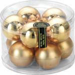 Weihnachtskugeln Gold 60mm, aus Glas