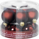 Weihnachtskugeln Dunkelrot 60mm, aus Glas