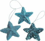 Deko-Sterne Funk mit Aufhänger, blau
