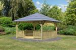 Karibu Holzpavillon Holm 1 im Set mit Brüstung und Fußboden