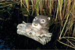 Ubbink Otter liegend auf Ast, 12x32,5x32,5cm