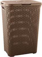 Rattan-Wäschebox Style, dunkelbraun, 60 L