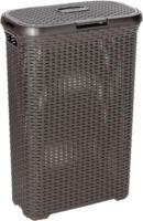 Rattan-Wäschebox Style, dunkelbraun, 40 L