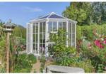 Nordic Gartenhaus Victoria 1400, weiß, PC klar