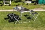Campingmöbel-Set, 5tlg., im Koffer