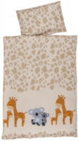 """Baby-Baumwoll-Bettwäsche 100 x 135 cm """"Giraffe & Koala"""""""