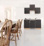 Respekta Singleküche 150 cm, Buche, mit Geräten