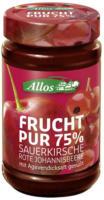 """Fruchtaufstrich """"Kirsche-Rote Johannisbeere"""""""